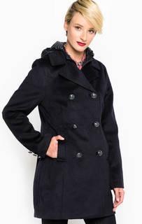 Синее демисезонное пальто из полиэстера Gas