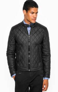 Черная куртка с воротником-стойкой Guess