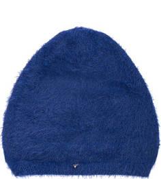 Синяя шапка из полиамида Guess