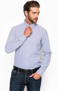 Хлопковая рубашка в полоску приталенного кроя Marciano Guess