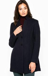 Синее пальто из полиэстера и шерсти Kocca