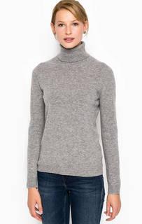 Серый шерстяной свитер с высоким горлом Stefanel