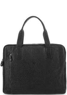 Кожаная сумка с короткими ручками и съемным плечевым ремнем Bruno Rossi