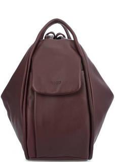 Бордовая сумка-рюкзак из натуральной кожи Bruno Rossi