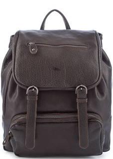 Темно-коричневый рюкзак из фактурной кожи Bruno Rossi