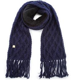 Вязаный шарф из акрила и шерсти с бахромой R.Mountain