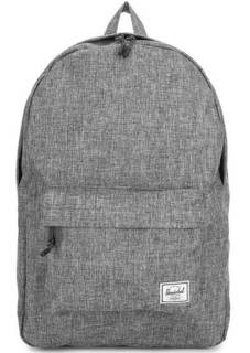 Серый текстильный рюкзак с одним отделом Herschel
