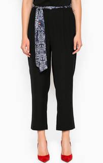 Укороченные черные брюки из полиэстера Miss Sixty