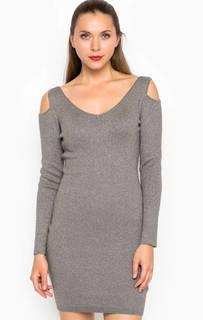 Короткое платье с вырезами на плечах Miss Sixty