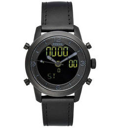 Кварцевые часы с электронными функциями Fossil
