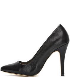 Текстильные черные туфли на шпильке Menbur