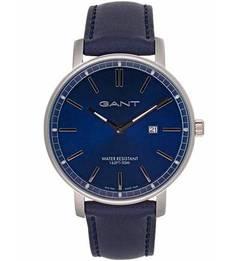 Часы круглой формы с кожаным ремешком Gant