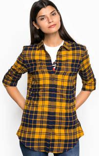 Хлопковая приталенная рубашка с карманами Barbour
