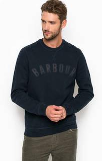 Синий хлопковый свитшот Barbour