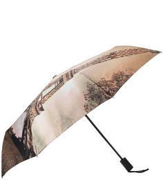 Автоматический зонт с восьмью спицами в три сложения Flioraj