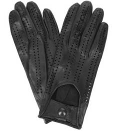 Кожаные перчатки на кнопках Bartoc
