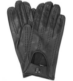Черные кожаные перчатки Bartoc