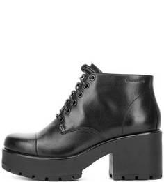 Черные кожаные ботильоны на шнуровке Vagabond