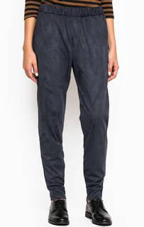 Синие зауженные брюки из полиэстера Ichi