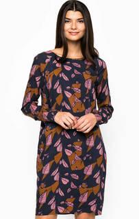 Платье из вискозы прямого кроя Ichi
