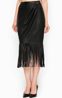 Черная юбка с бахромой Relish