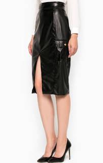 Черная юбка с накладными карманами Relish