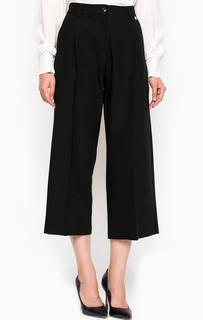 Черные брюки кюлоты с подкладкой Relish