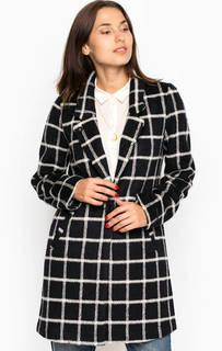 Пальто из шерсти и полиэстера в клетку Maison Scotch