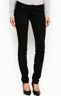 Черные джинсы скинни с низкой посадкой Mustang