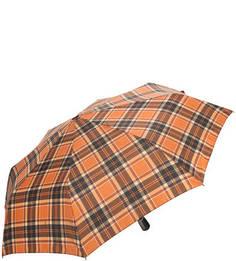 Коричневый складной зонт в клетку Doppler