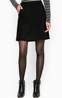 Короткая черная юбка из шерсти Marc Opolo