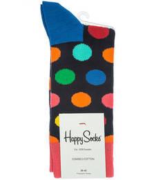 Разноцветные хлопковые носки в горошек Happy Socks