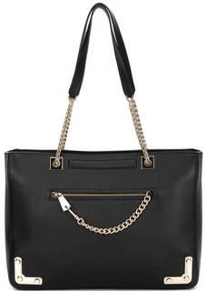 Черная кожаная сумка с двумя ручками Furla