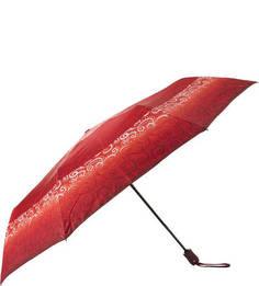Красный зонт с куполом из сатина Doppler