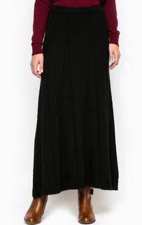 Длинная вязаная однотонная юбка Stefanel