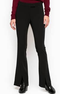 Расклешенные однотонные брюки из полиэстера Stefanel