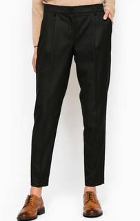 Черные брюки в полоску Stefanel