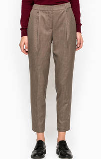 Укороченные брюки коричневого цвета Stefanel
