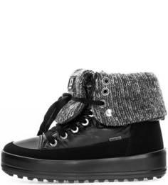 Черные ботинки на шнуровке Jog Dog