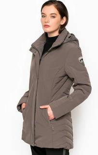 Серая куртка со съемным капюшоном Luhta
