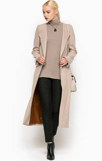 Однотонное шерстяное пальто Drykorn