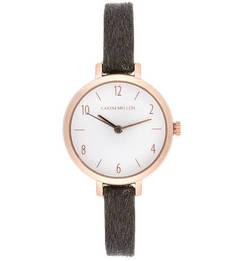 Часы круглой формы с тонким ремешком Karen Millen