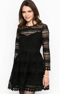 Ажурное черное платье Miss Sixty