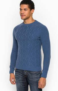 Синий шерстяной свитер Liu Jo Uomo