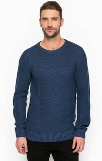 Синий свитер с круглым вырезом Tom Tailor Denim