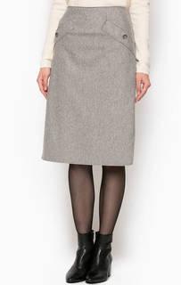 Серая шерстяная юбка Marc Opolo