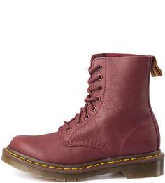 Кожаные ботинки бордового цвета Dr. Martens