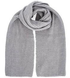 Вязаный серый шарф Liu Jo Uomo