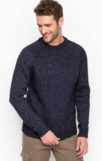Синий хлопковый свитер с круглым вырезом Liu Jo Uomo