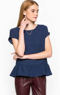 Блуза с баской и короткими рукавами Kocca